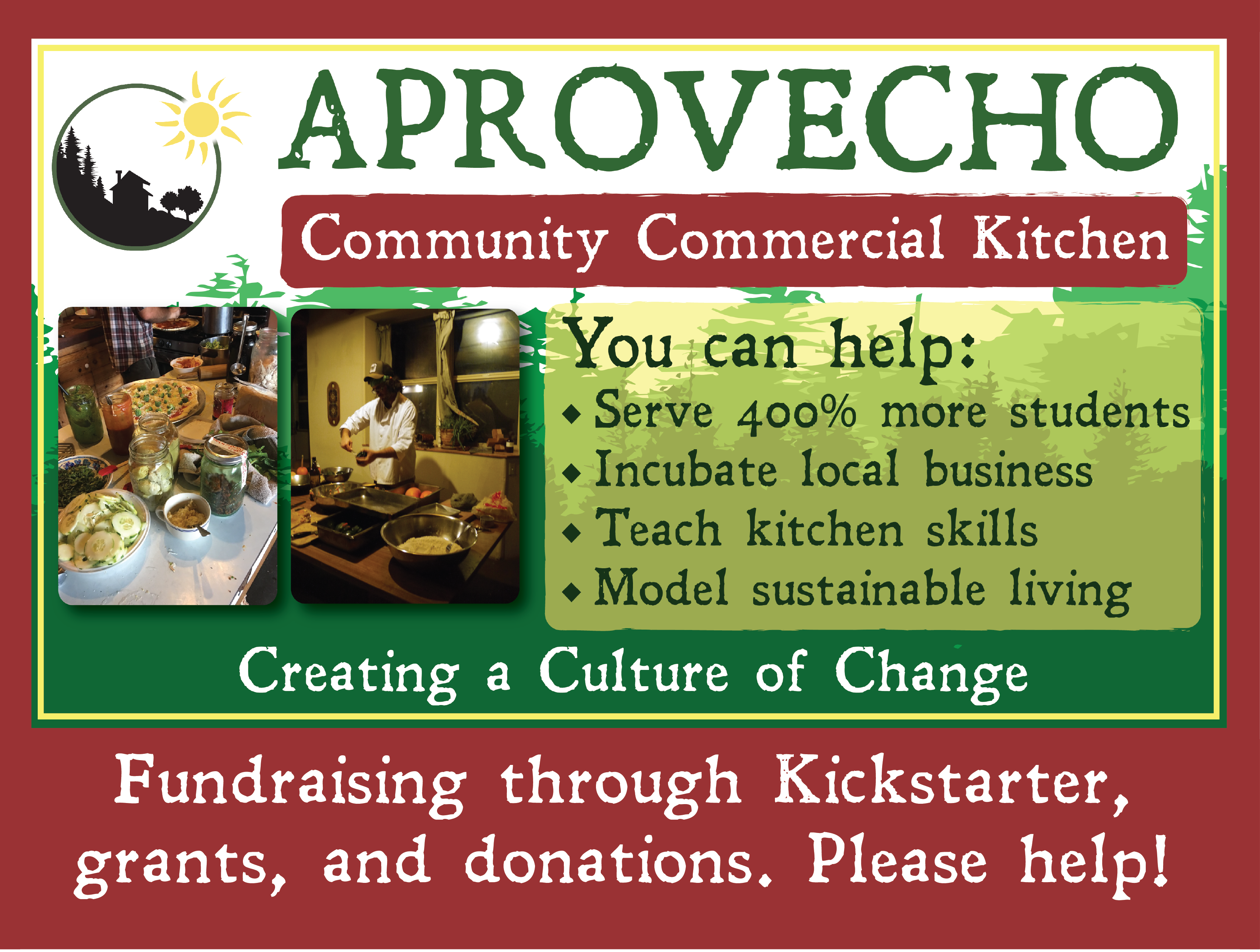 We're fundraising for a commercial kitchen!