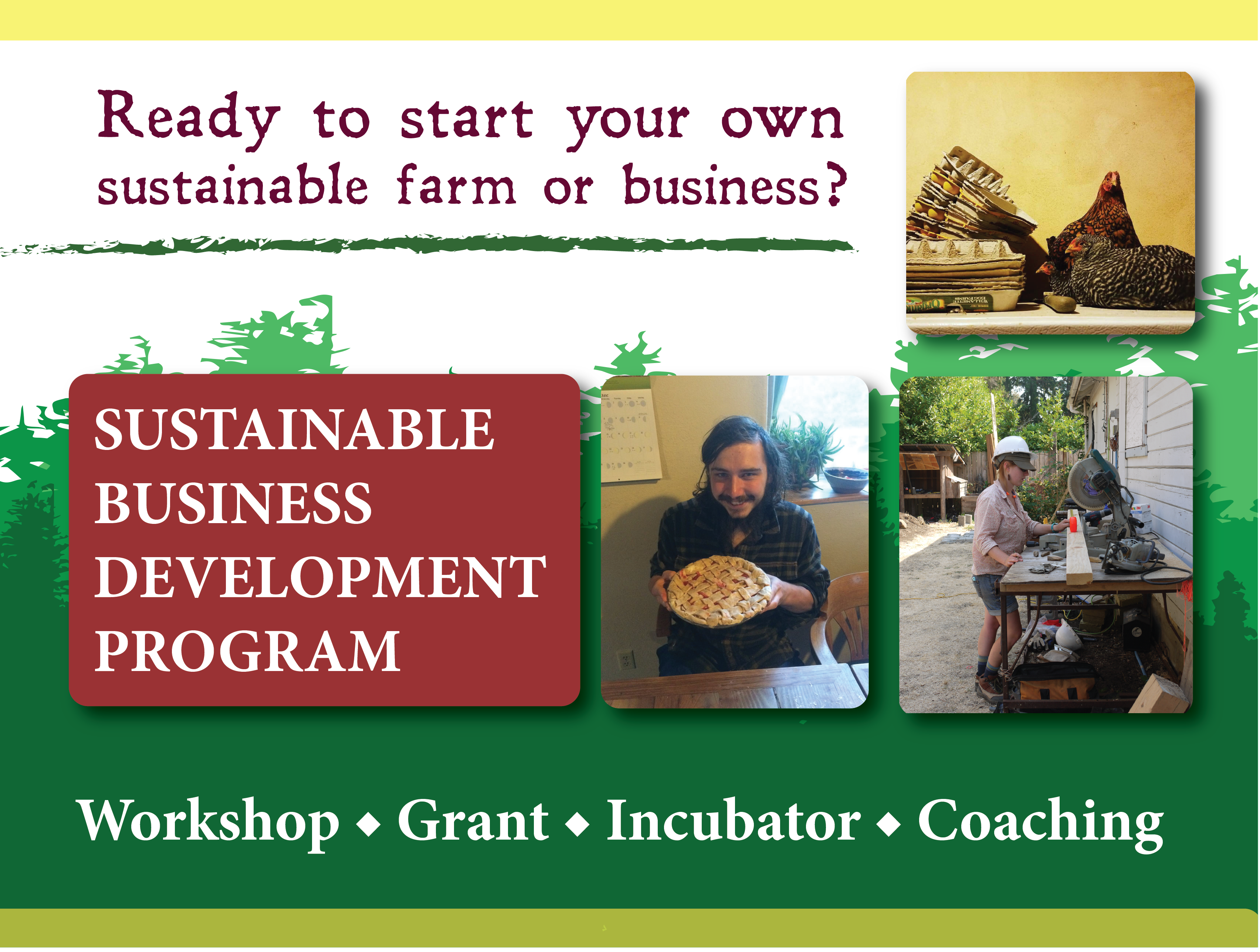 Start a sustainable business through our IDA grant and business coaching program! 6-week workshops offered twice a year.